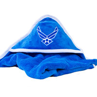 United States Air Force Insignia Blue Baby Blanket Soft Fleece U.S.A.F.  from United States Air Force
