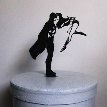 Wedding Cake Topper - Batman and Wonder Woman cake topper