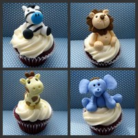 Jungle Animal Cupcakes | Cute Cupcakes | CutestFood.com