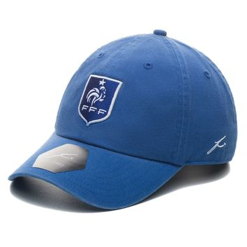 France National Team Fi Collection Adjustable Dad Hat - Blue