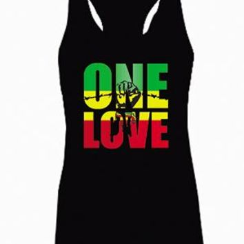 Bob Marley One Love Jamaica Reggae Adult Tank Top (racerback)