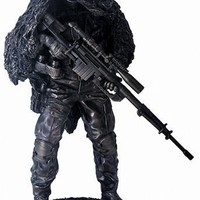 Sniper Military Armed Soldier Ready for Battle Statue 12.5H