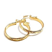Rombo 18kts of Gold Plated Earrings Hoops