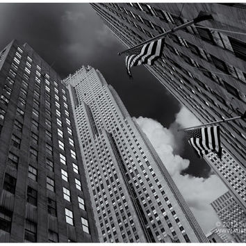 "Wall Art of ""Metropolis"" Black & White Photograph, Skyscrapers, New York City, Architecture Photography, Black and White Print"