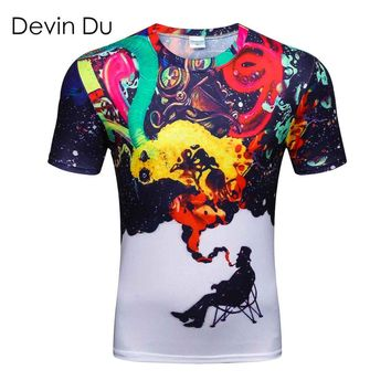 Devin Du 3D Colorful Smoke Smoking T