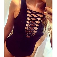 DCCKJ1A HOT HOLLOW OUT BODY SUIT ONE PIECE