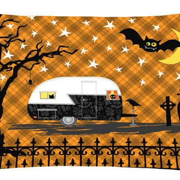 Halloween Vintage Camper Canvas Fabric Decorative Pillow VHA3020PW1216