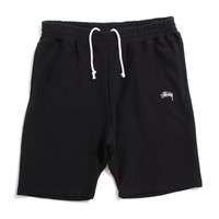 Stock Fleece Shorts Black