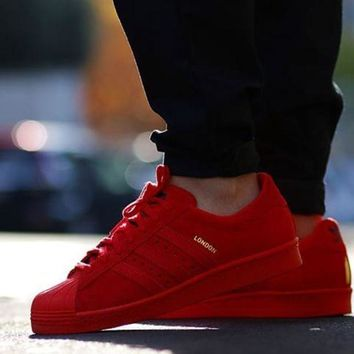 ESBONA Adidas Originals Superstar City Pack Red Classic Sneaker Sprot Shoes