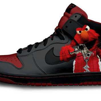 Gangsta Elmo Nike Dunks Parody by Customs4you on Etsy