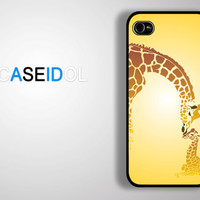 Cute mother giraffe with her baby iPhone 4 Case iPhone 5 case iPhone 5s case iPhone 5c case Samsung Galaxy S4 S3 idea case iPhonecase