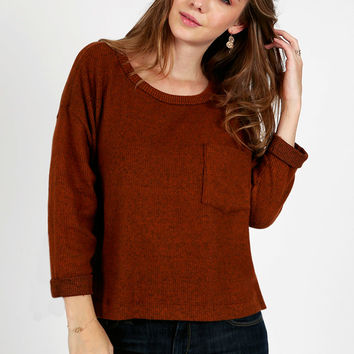 Bonfire Ribbed Top