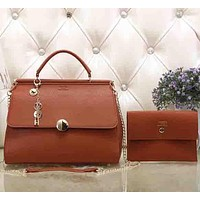 Perfect Hermes Women Fashion Leather Satchel Tote Handbag Shoulder Bag Crossbody Set Two-Piece
