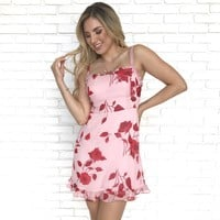 Peddle On Floral Ruffle Dress