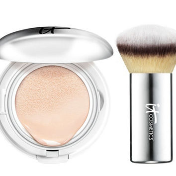 IT Cosmetics CC Veil SPF 50 Foundation Cushion Compact with Brush — QVC.com
