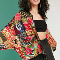 Silence + Noise Eve Patch Printed Bomber Jacket - Urban Outfitters