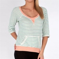 Chance or Fate Juniors Striped French Terry Pullover at Von Maur
