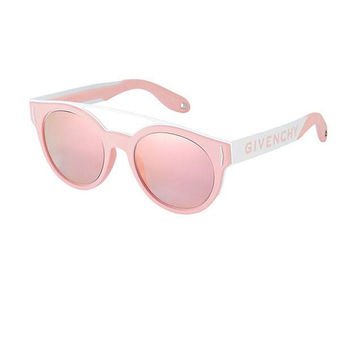 Pink and White Sunglasses by Givenchy