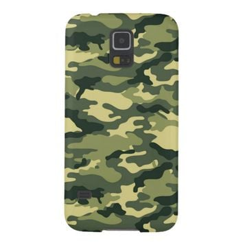 Green Camouflage Pattern Samsung Galaxy S5 Case