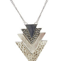 Tiered Chevron Long Necklace | Wet Seal