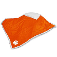Clemson Tigers NCAA  Soft Plush Sherpa Throw Blanket (50in x 60in)