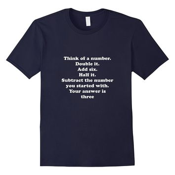 Cool Math T Shirt Geek Nerd English Quote Problem Answer Tee
