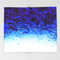 Indigo Blue Ombre Crystals Throw Blanket by 2sweet4words Designs