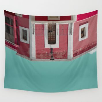 Red House Wall Tapestry by lostanaw