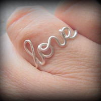Love ring..Adjustable ring..Wire ring..Fast shipping.