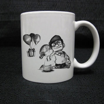 carl and ellie up romantic for mug two side