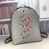 Gucci Gg Supreme Canvas Embroidery Backpack Bag #26191 - Best Deal Online