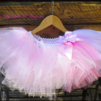 "Pink Tutu and Headband Set ""Posh Pink"" For Girls, Newborn Tutu, Toddler Tutu, Tutu Set"