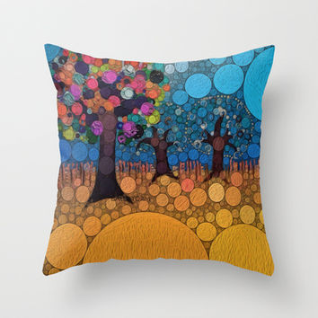 :: Jewel Tree :: Throw Pillow by GaleStorm Artworks