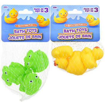 Bulk Bathtime Fun Vinyl Bath Toys, 3-ct. Packs at DollarTree.com