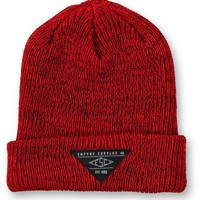 Empyre Cobblestone Heather Red & Black Beanie