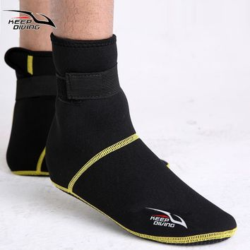 3mm Neoprene Snorkeling Shoes Scuba Diving Socks Beach Boots Wetsuit Prevent Scratches Warming Non-slip Winter Swimming Seaside