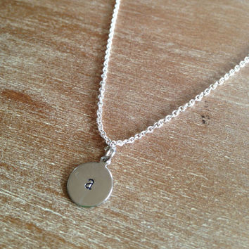 Delicate Initial Pendant Necklace