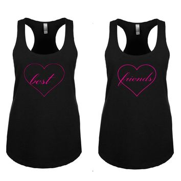 BEST FRIENDS Woman's Tank Tops + Your NAMES on the back or another text