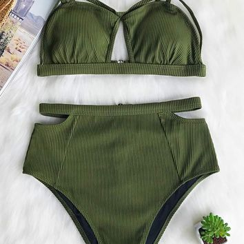 Cupshe Our Favorite High-waisted Bikini Set