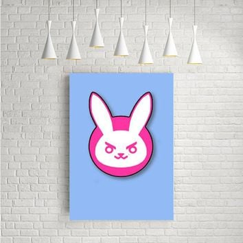 DVA OVERWATCH BUNNY ARTWORK POSTERS