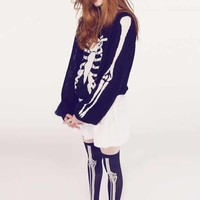 Wildfox Couture Death Becomes Her Pfeiffer Sweater in Clean Black