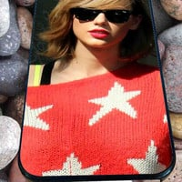 Taylor swift haircut for iPhone 4/4s/5/5S/5C/6, Samsung S3/S4/S5 Unique Case *95*