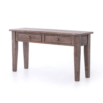 LESLIE CONSOLE TABLE 2 DRAWER - SUN ASH