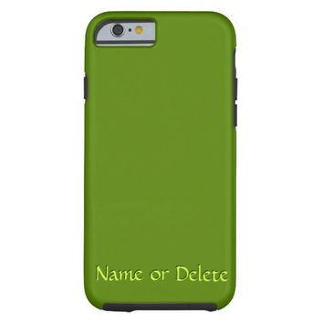Solid Avocado Green Personalized Tough iPhone 6 Case