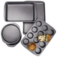 Chefmate 5 Piece Bakeware Box Set - Grey