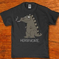 Herbivore smoking a blunt adult funny awesome t-shirt