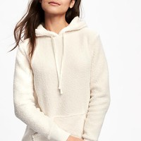 Relaxed Sherpa Hoodie for Women | Old Navy