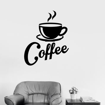 Vinyl Decal Kitchen Coffee Shop Cup House Decor Wall Stickers Mural Unique Gift (ig2687)