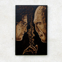 Harry Potter - Voldemort woodburned art