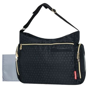 Fisher Price Diaper Bag Black with Gold Zippers